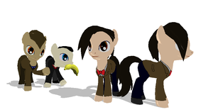 Eleventh Doctor Pony + DL by Valforwing