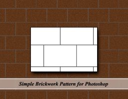Simple Brickwork Pattern for Photoshop by cazcastalla