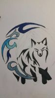 Fox and Moon tribal by MillaAndWilly