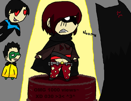 OMG 1000 views by NightwingForever