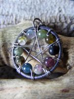 Rainbow Tourmaline WireWrapped by MoonLitCreations