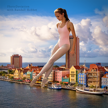Ballerina and the Puddle by PhotoDeviation