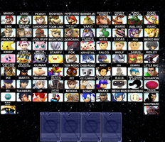 My Super Smash Bros. 4 Roster by Fillet-O-Fish