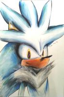 Silver the Hedgehog - Speed Painting by connieiscrazy