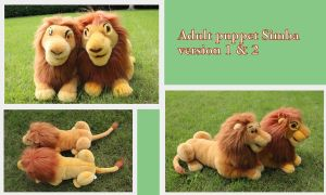 Simba puppet V1 and V2 by Laurel-Lion