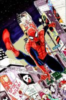 Spidey Times Square by shinlyle