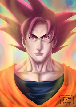 Fan Art Dragon Ball : Goku by Deyvidson