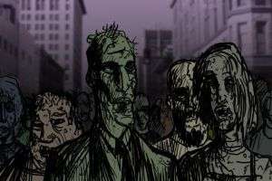 some zombies by JackHook