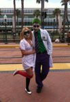 Nurse Harley and Dr. Joker by IchiLover
