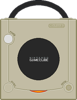 Nintendo Gamecube [Top] Starlight Gold by BLUEamnesiac