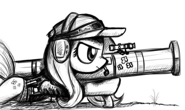 Fluttershy and her Friendship launcher by Dori-to