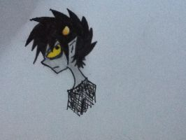 Karkat doodle(colors!) by TakahioChinta