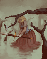 The Girl In The Swamp by Kylogram