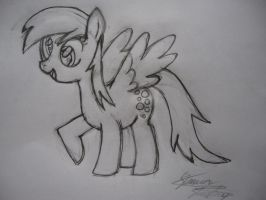 Derpy Pencil Sketch by SJStansbury