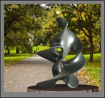 08-11-13 Abstract sculpture in a London park by bjman