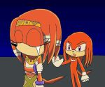 DX sceen Knuckles and Tikal by lady-warrior