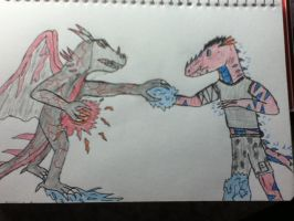 The Frozen Darkness Vs The perfect weapon 1 of 6 by RedLightningNOD608