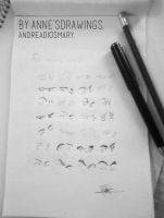 Eyes reference by Anne's Drawings. by AndreaDiosmary