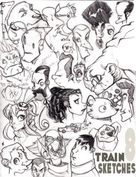 Train Sketches 8: The Page by Zatransis