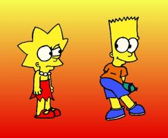 Bart and Lisa Simpson :D by Jazz102