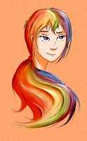 Face practice 2: Rainbow Dash by JunkieKB