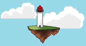 Island in the Sky: Lighthouse by tattoartist9