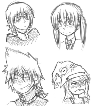 SoulEater doodles by OliverLollipop