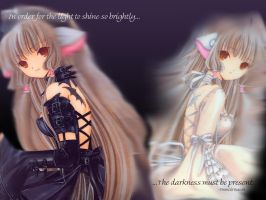 Chobits wallpaper by draw-girl