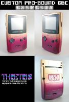 Purple and Gold Gameboy Color by Thretris
