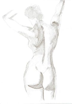 figure female, volume and shadow by willaguirre