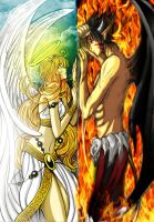 When Heaven meets Hell by amjie