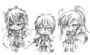 BW adoptable 2nd super chibi_trio sword- AUCTION by JBeanSV