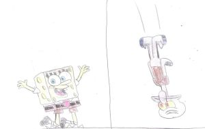 SpongeBob and Squidward: Up and Down by MarcosLucky96