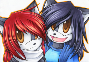 New Years Collab by Chibi-Nuffie