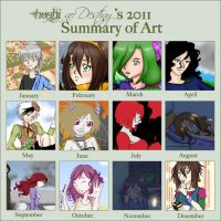 Summary of art - 2011 by HoshinoDestiny