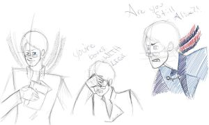 Evil Wheatley doodles by ArhenaRuetto