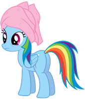 Rainbow Dash Vector - What? towels aren't a thing? by Anxet