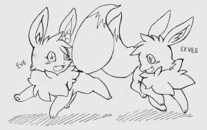 RQ - Eve and Eevee by CrissyG