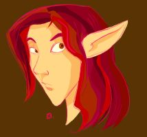 Red haired Elf boy by StressedJenny
