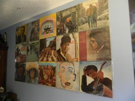 Wall of awesome vinyl by Champineography