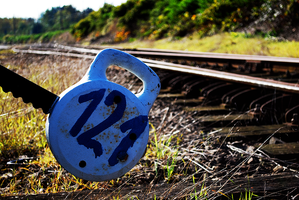 railway sign by creativecircle