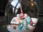 Christmas contest: Handmade snowgobe with Santa 1 by SelloCreations