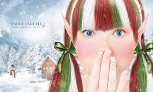 Candy Cane Elf by melanneart
