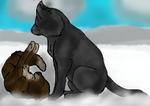 Leafpool and Crowfeather for soccerlover37 by Speckledleaf