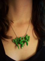 Green Tentacle Necklace by CraftMagic