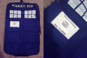 TARDIS suitcase by katerlin