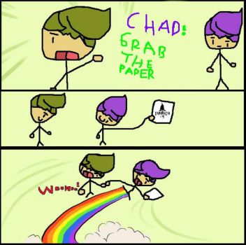 Chad! Grab The Paper! by Pokemontrainernat