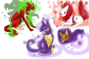 PKMNation: Evilish Cats half clutch (ALL GONE) by Loumun-Versen