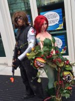 SDCC 2014: Winter Soldier and Poison Ivy by Omnipotrent