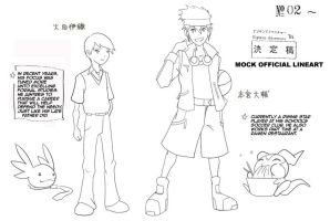 Mock Official Digimon Adventure Tri lineart by Shadypenpen